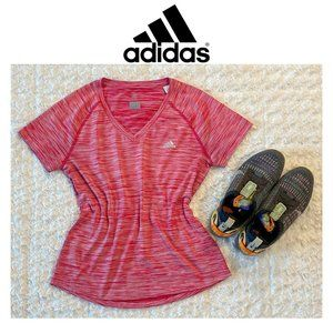 Adidas Climalite Red & White Short Sleeve Tee